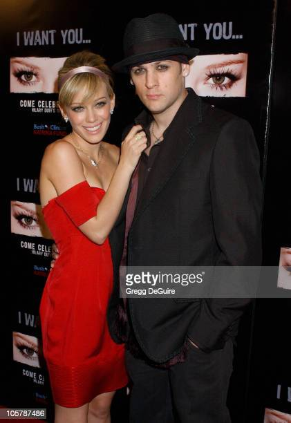 Hilary Duff and Joel Madden during Hilary Duff's 18th Birthday Party at Mood in Hollywood California United States