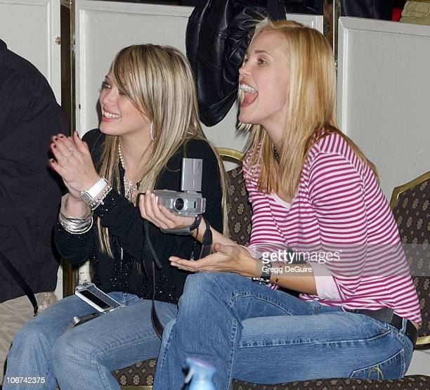 Hilary Duff and Leslie Bibb during The Jeep Yappy Hour and Febreze Pet Fashion Show sponsored by GW Little Arrivals at Century Plaza Hotel in Century...