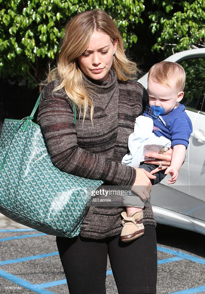 <a gi-track='captionPersonalityLinkClicked' href=/galleries/search?phrase=Hilary+Duff&family=editorial&specificpeople=201586 ng-click='$event.stopPropagation()'>Hilary Duff</a> and Luca Cruz Comrie are seen on December 4, 2012 in Los Angeles, California.