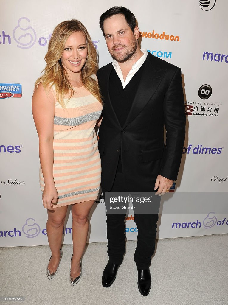 Hilary Duff and Mike Comrie arrives at the March Of Dimes' Celebration Of Babies at Beverly Hills Hotel on December 7, 2012 in Beverly Hills, California.