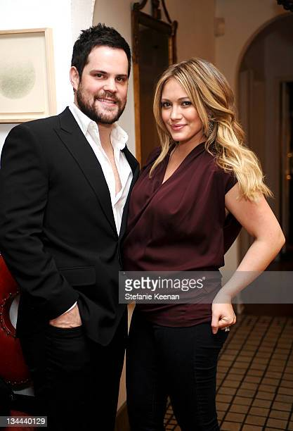 Hilary Duff and Mike Comrie attend 'Jessica Paster for JustFabulous' Holiday Collection Celebration Party on November 30 2011 in Los Angeles...