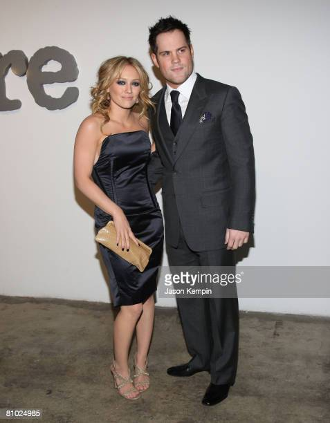 Hilary Duff and Mike Comrie attend the 2nd annual Allure magazine 'Most Alluring Bodies' exhibit on May 7 2008 at Skylight Studios in New York City