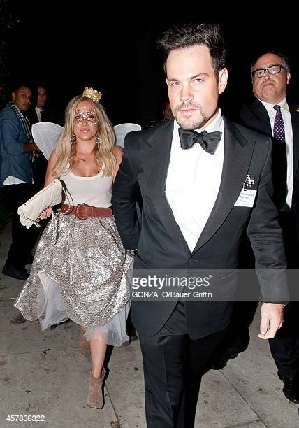 Hilary Duff and Mike Comrie seen at Casamigos Tequila on October 24 2014 in Los Angeles California