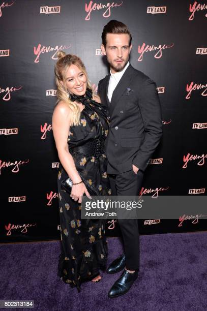 Hilary Duff and Nico Tortorella attend the 'Younger' season four premiere party on June 27 2017 in New York City