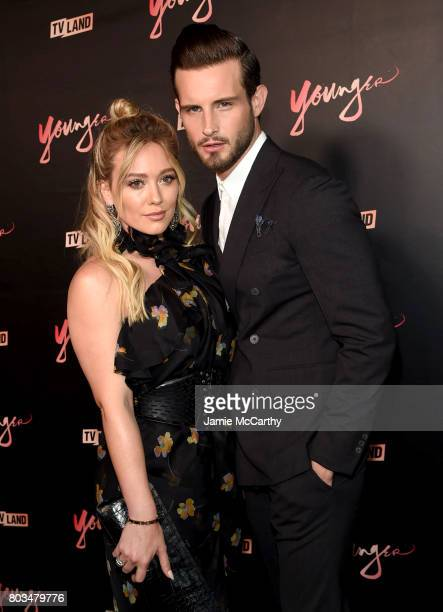 Hilary Duff and Nico Tortorella attend the 'Younger' Season Four Premiere Party at Mr Purple on June 27 2017 in New York City on June 27 2017 in New...