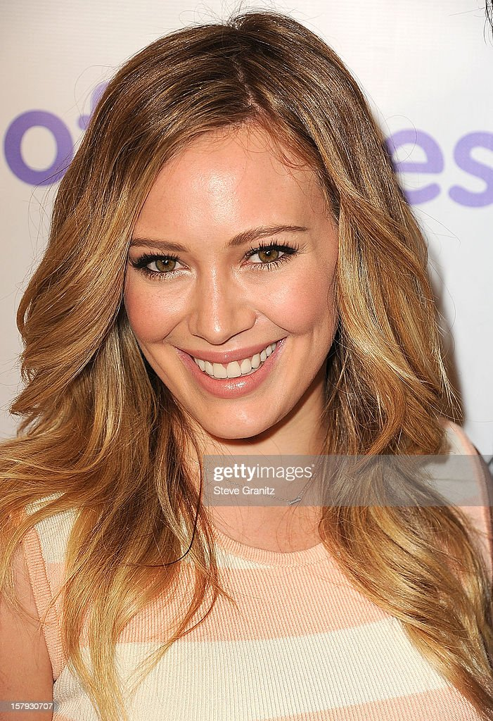 Hilary Duff arrives at the March Of Dimes' Celebration Of Babies at Beverly Hills Hotel on December 7, 2012 in Beverly Hills, California.