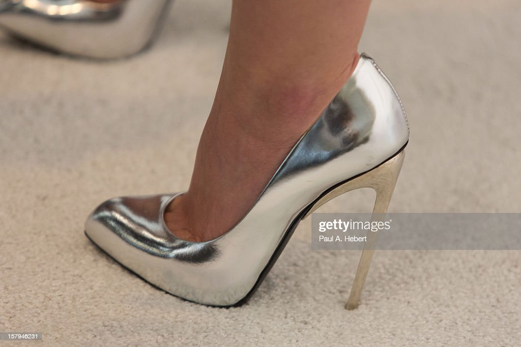 Hilary Duff (shoe detail) arrives at the March Of Dimes' Celebration Of Babies held at the Beverly Hills Hotel on December 7, 2012 in Beverly Hills, California.