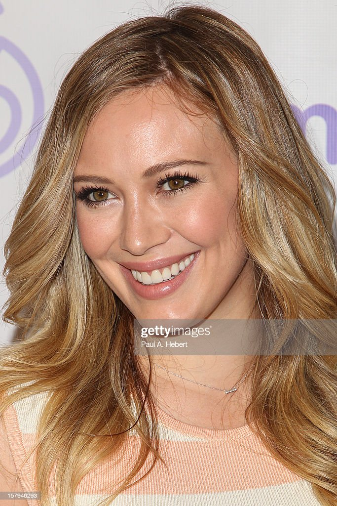 Hilary Duff arrives at the March Of Dimes' Celebration Of Babies held at the Beverly Hills Hotel on December 7, 2012 in Beverly Hills, California.