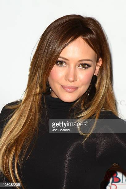 Hilary Duff arrives to the Golden Globe Nominees Kentucky Derby Prelude Party at The London Hotel on January 13 2011 in West Hollywood California