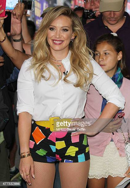 Hilary Duff at ABC's Good Morning America promoting her new CD 'Breathe In Breathe Out' on June 16 2015 in New York City
