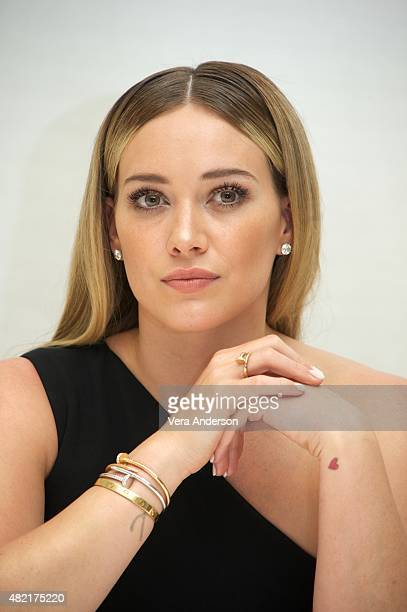 Hilary Duff at the 'Younger' Press Conference at the Four Seasons Hotel on July 27 2015 in Beverly Hills California