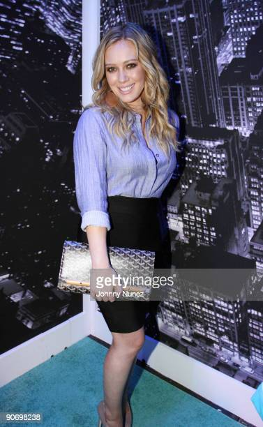 Hilary Duff attends the QVC Style Live celebration during MercedesBenz Fashion Week Spring 2010 at Bryant Park on September 12 2009 in New York City