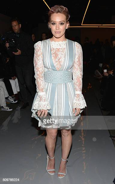 Hilary Duff attends the Zimmermann Fall 2016 Runway Show at Art Beam on February 12 2016 in New York City