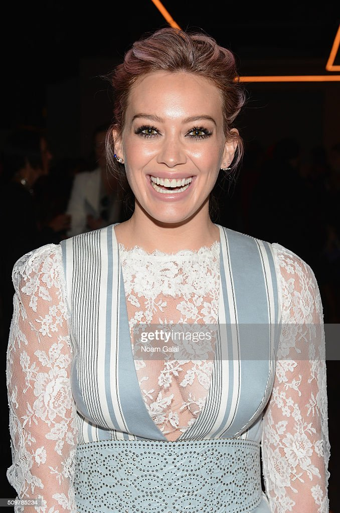 <a gi-track='captionPersonalityLinkClicked' href=/galleries/search?phrase=Hilary+Duff&family=editorial&specificpeople=201586 ng-click='$event.stopPropagation()'>Hilary Duff</a> attends the Zimmermann Fall 2016 Runway Show at Art Beam on February 12, 2016 in New York City.