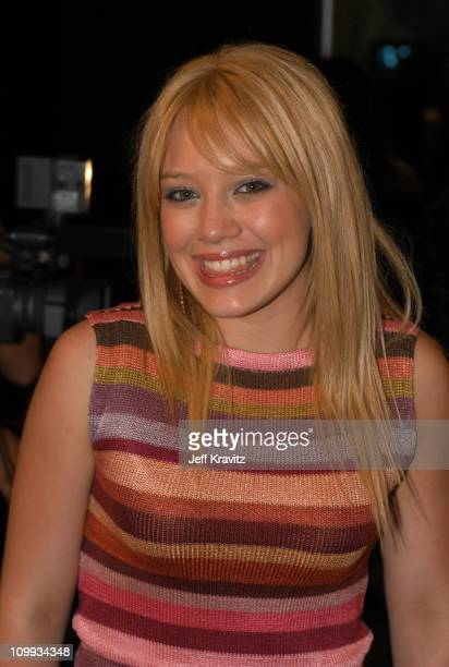 Hilary Duff during 2003 MTV Movie Awards Backstage and Audience at The Shrine Auditorium in Los Angeles California United States