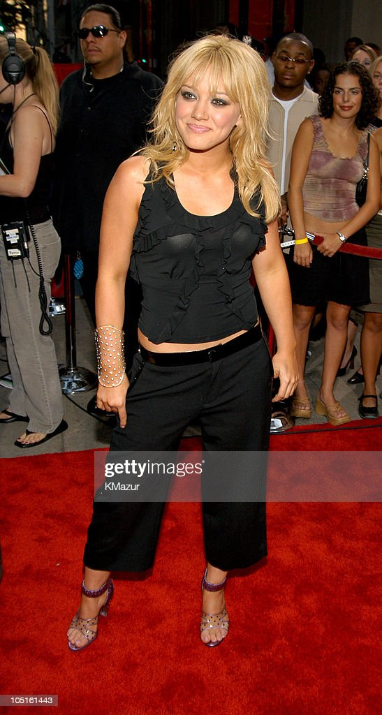 Hilary Duff during 2003 MTV Video Music Awards Red Carpet at Radio City Music Hall in New York City New York United States