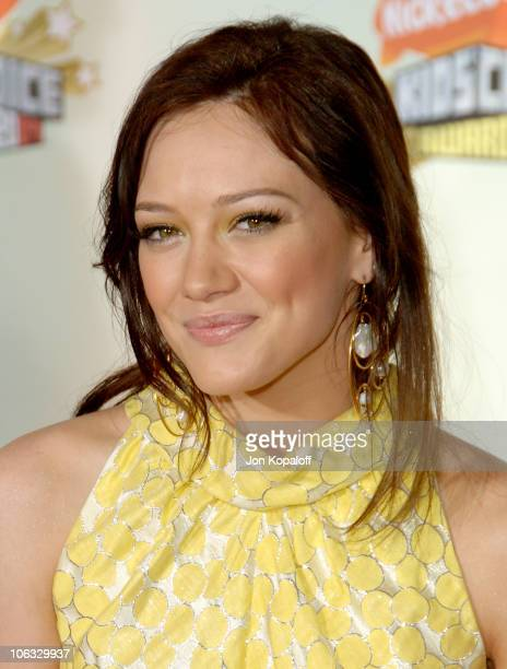 Hilary Duff during Nickelodeon's 20th Annual Kids' Choice Awards Arrivals at Pauley Pavilion UCLA in Westwood California United States