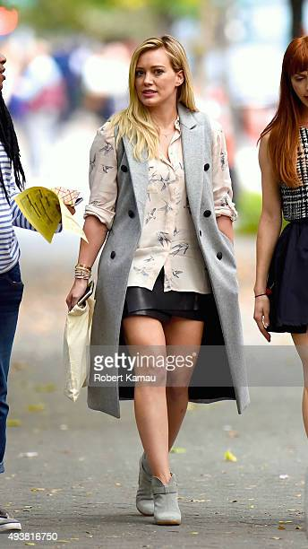 Hilary Duff films HBO tv show'Younger' on October 22 2015 in New York City