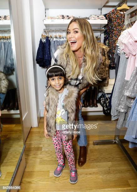Hilary Duff hosts Baby2Baby BacktoSchool Event Sponsored by GAP at The Grove on September 7 2017 in Los Angeles California