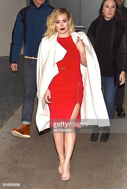 Hilary Duff is seen in Soho on January 13 2016 in New York City