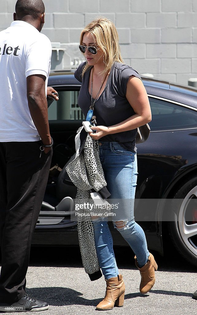 Hilary Duff is seen on April 21, 2014 in Los Angeles, California.