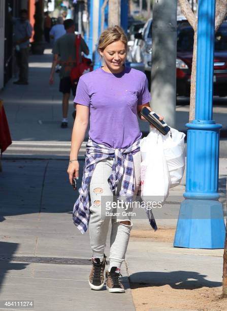 Hilary Duff is seen on August 24 2014 in Los Angeles California