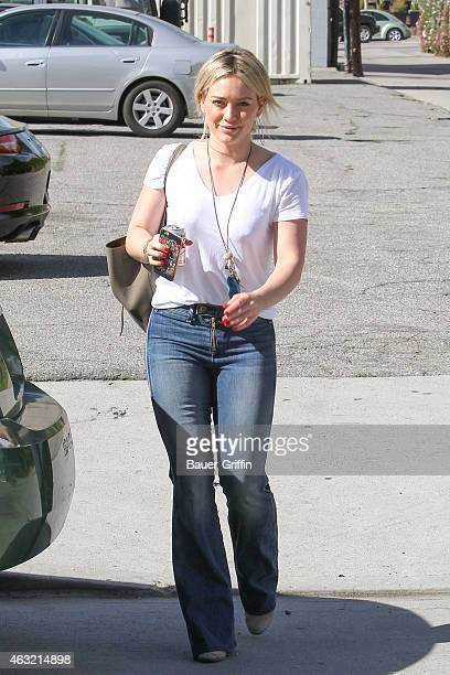 Hilary Duff is seen on February 11 2015 in Los Angeles California