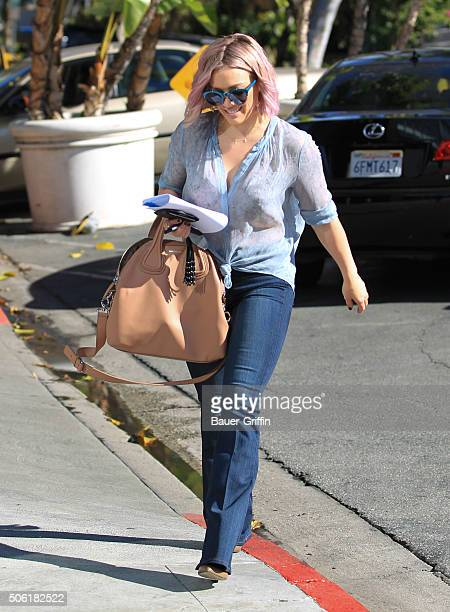 Hilary Duff is seen on January 21 2016 in Los Angeles California
