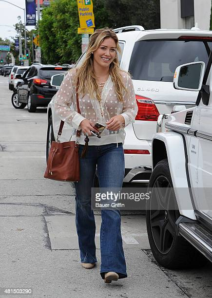 Hilary Duff is seen on July 21 2015 in Los Angeles California