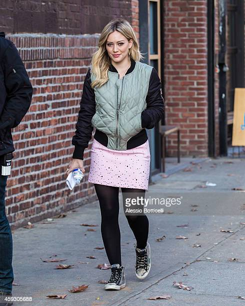 Hilary Duff is seen on location for 'Younger' on November 20 2014 in New York City