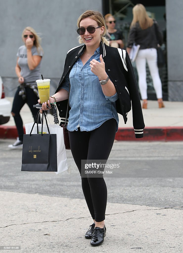 Hilary Duff is seen on May 5, 2016 in Los Angeles, California.