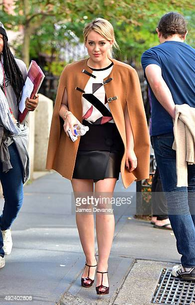 Hilary Duff seen on the set of 'Younger' on October 12 2015 in New York City