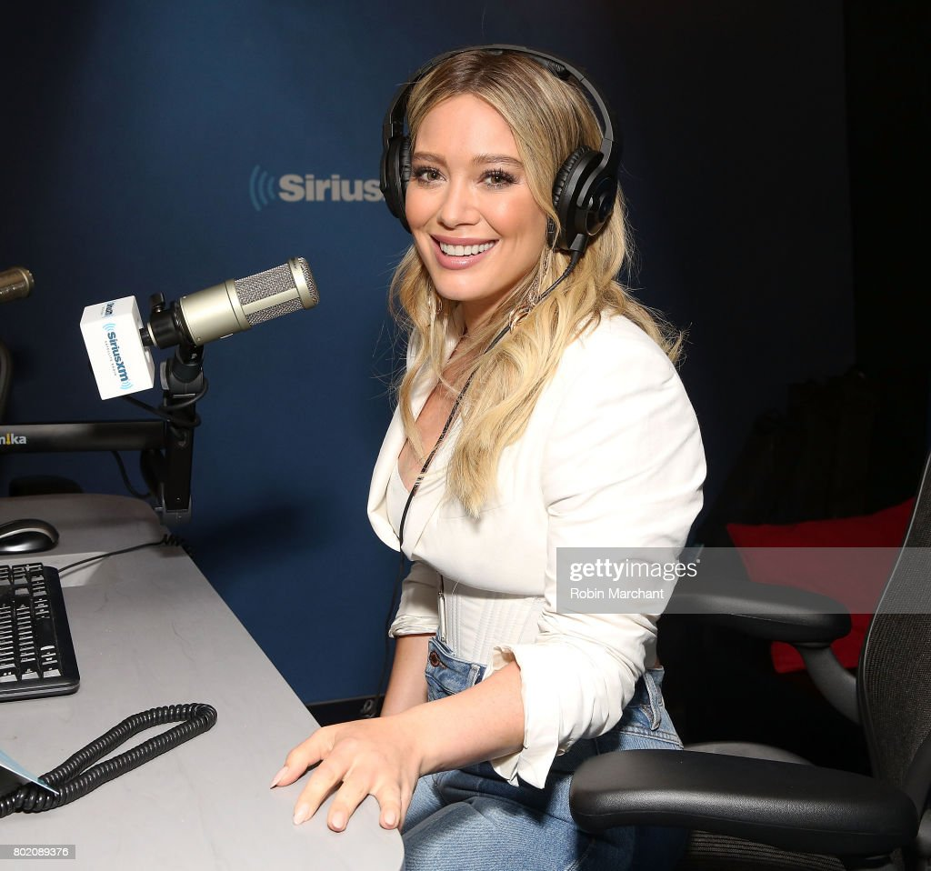 Hilary Duff visits at SiriusXM Studios on June 27, 2017 in New York City.