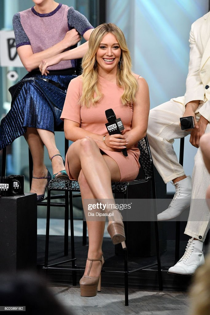 Hilary Duff visits Build to discuss 'Younger' at Build Studio on June 27, 2017 in New York City.
