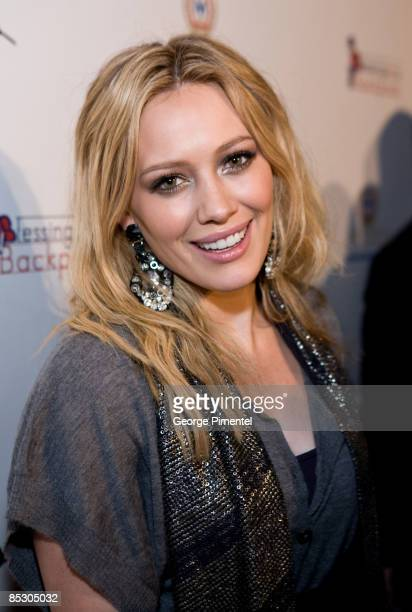 Hilary Duff Visits Toronto to promote the Canadian Launch of Blessings in a Backpack at Ultra Supper on March 6 2009 in Toronto Canada