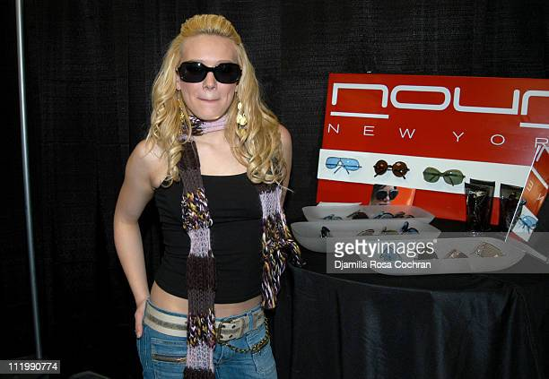 Hilary Duff with Nour Sunglasses at Z100's Jingle Ball 2003 Talent Gift Lounge produced by On 3 Productions