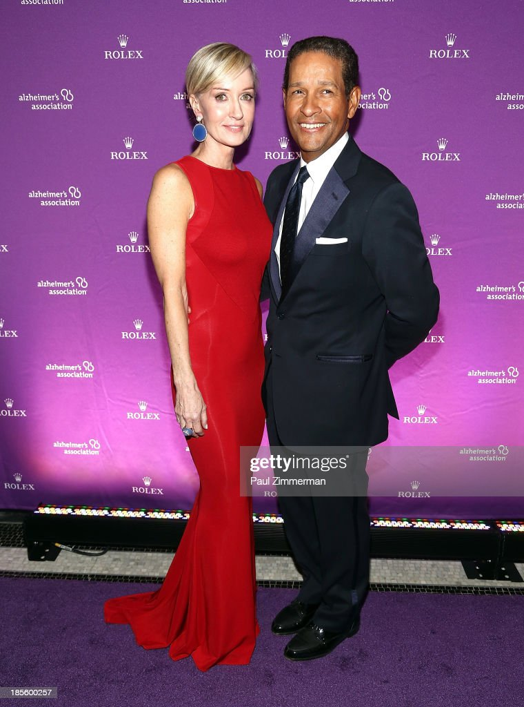 Hilary Gumbel (L) and <a gi-track='captionPersonalityLinkClicked' href=/galleries/search?phrase=Bryant+Gumbel&family=editorial&specificpeople=210513 ng-click='$event.stopPropagation()'>Bryant Gumbel</a> attend 2013 Alzheimer's Association Rita Hayworth 30th Anniversary gala at The Waldorf=Astoria on October 22, 2013 in New York City.