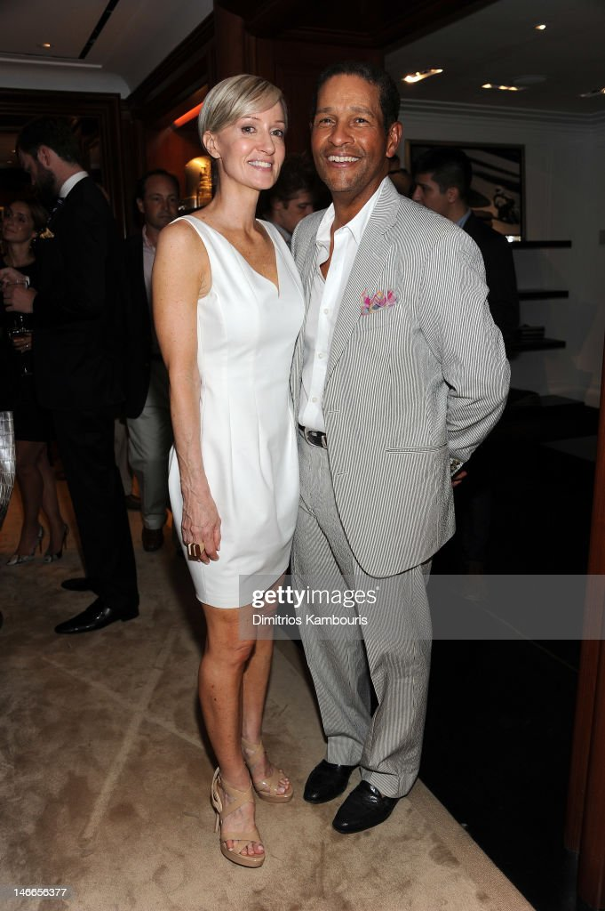 Hilary Gumbel and Bryant Gumbel attend Ralph Lauren\u0026#39;s launch of The RLX Golf Shop with Luke