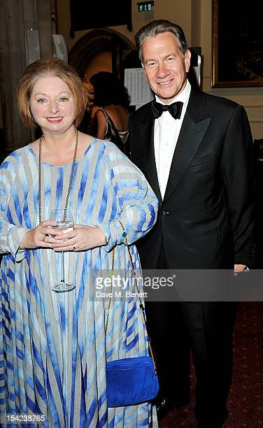 Hilary Mantel and Michael Portillo attend a drinks reception at the Man Booker Prize Winner Ceremony at The Guildhall on October 16 2012 in London...