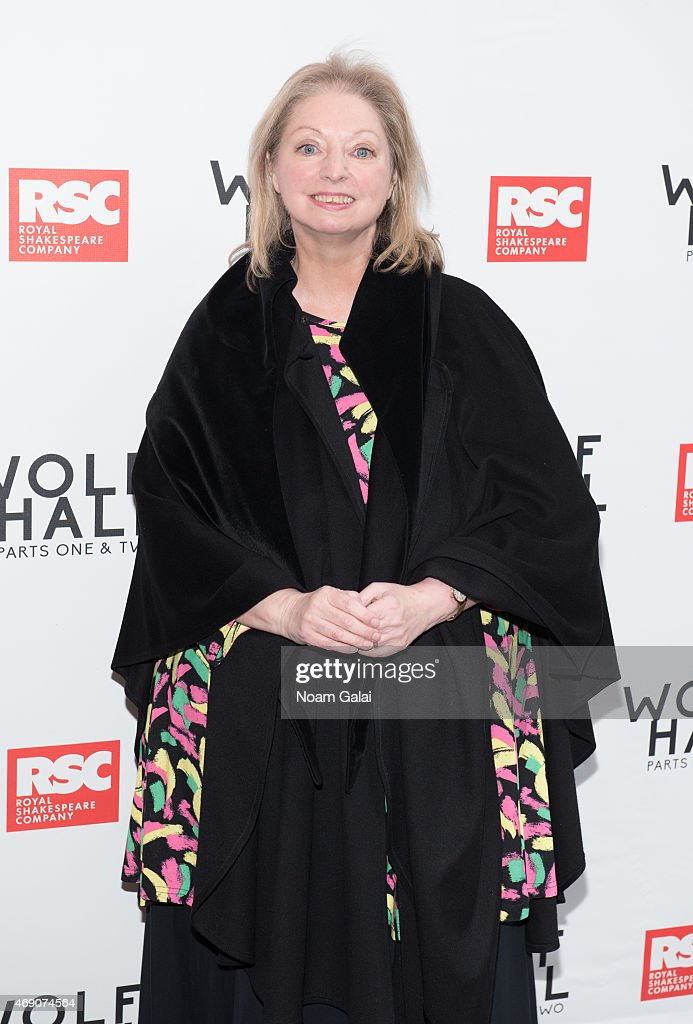 <a gi-track='captionPersonalityLinkClicked' href=/galleries/search?phrase=Hilary+Mantel&family=editorial&specificpeople=590045 ng-click='$event.stopPropagation()'>Hilary Mantel</a> attends the openning Night of 'Wolf Hall' at Winter Garden Theatre on April 9, 2015 in New York City.