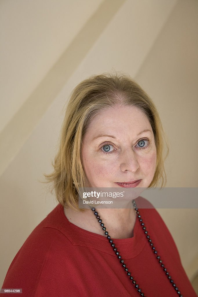 Hilary Mantel , author of 'Wolf Hall', at the London Book Fair at Earls Court on April 19, 2010 in London, England.