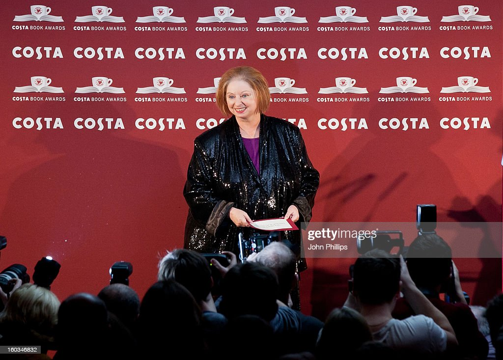 Hilary Mantel wins the Costa Book of the Year awards at Quaglino's on January 29, 2013 in London, England.