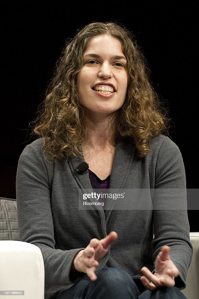 Hilary Mason, chief scientist at web application developer Bitly Inc., gestures while speaking at the Minds + Machines 2012: Unleashing the Industrial Internet conference in San Francisco, California, U.S., on Thursday, Nov. 29, 2012. Thought leaders from across business, technology and academia will gather at the Minds + Machines 2012 conference to discuss the power of the Industrial Internet and why it matters. Photographer: David Paul Morris/Bloomberg via Getty Images