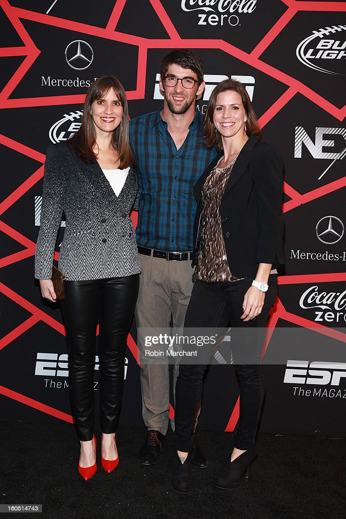 Hilary Phelps, Olympian <a gi-track='captionPersonalityLinkClicked' href=/galleries/search?phrase=Michael+Phelps&family=editorial&specificpeople=162698 ng-click='$event.stopPropagation()'>Michael Phelps</a> and Whitney Phelps attend ESPN The Magazine's 'NEXT' Event at Tad Gormley Stadium on February 1, 2013 in New Orleans, Louisiana.