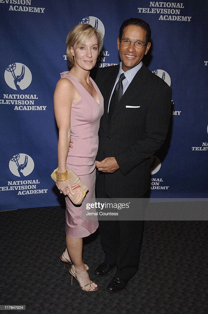Hilary Quinlan and Bryant Gumbel during 26th Annual Sports Emmy Awards ...