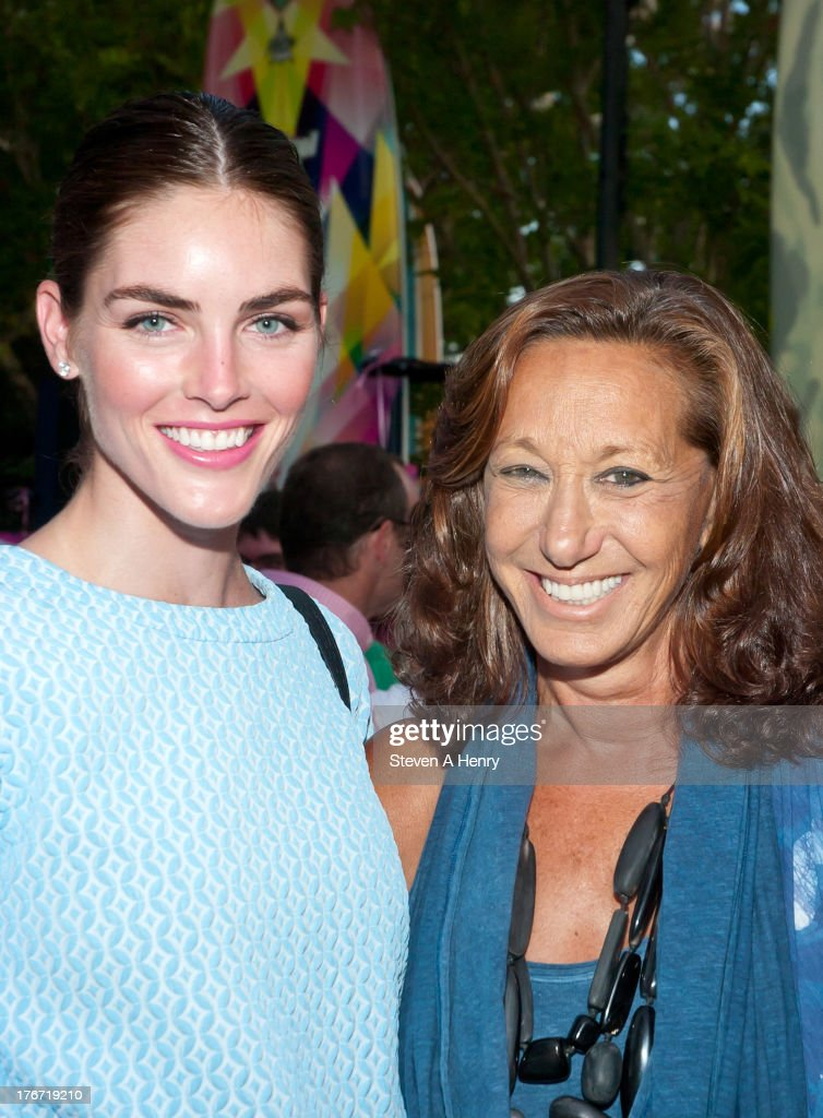 Hilary Rhoda and Donna Karan attend the 2nd annual Paddle & Party for Pink on August 17, 2013 in Sag Harbor, New York.