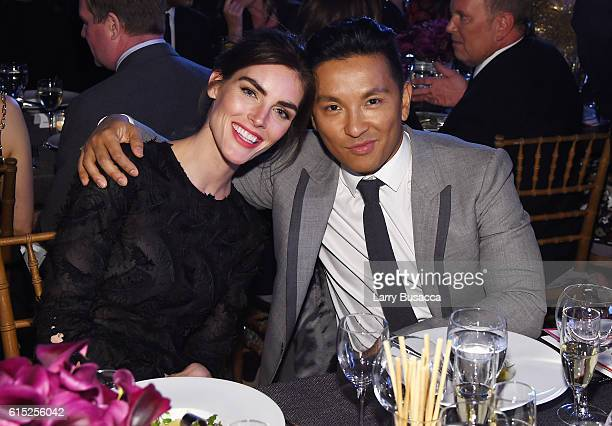 Hilary Rhoda and Prabal Gurung attend the God's Love We Deliver Golden Heart Awards on October 17 2016 in New York City