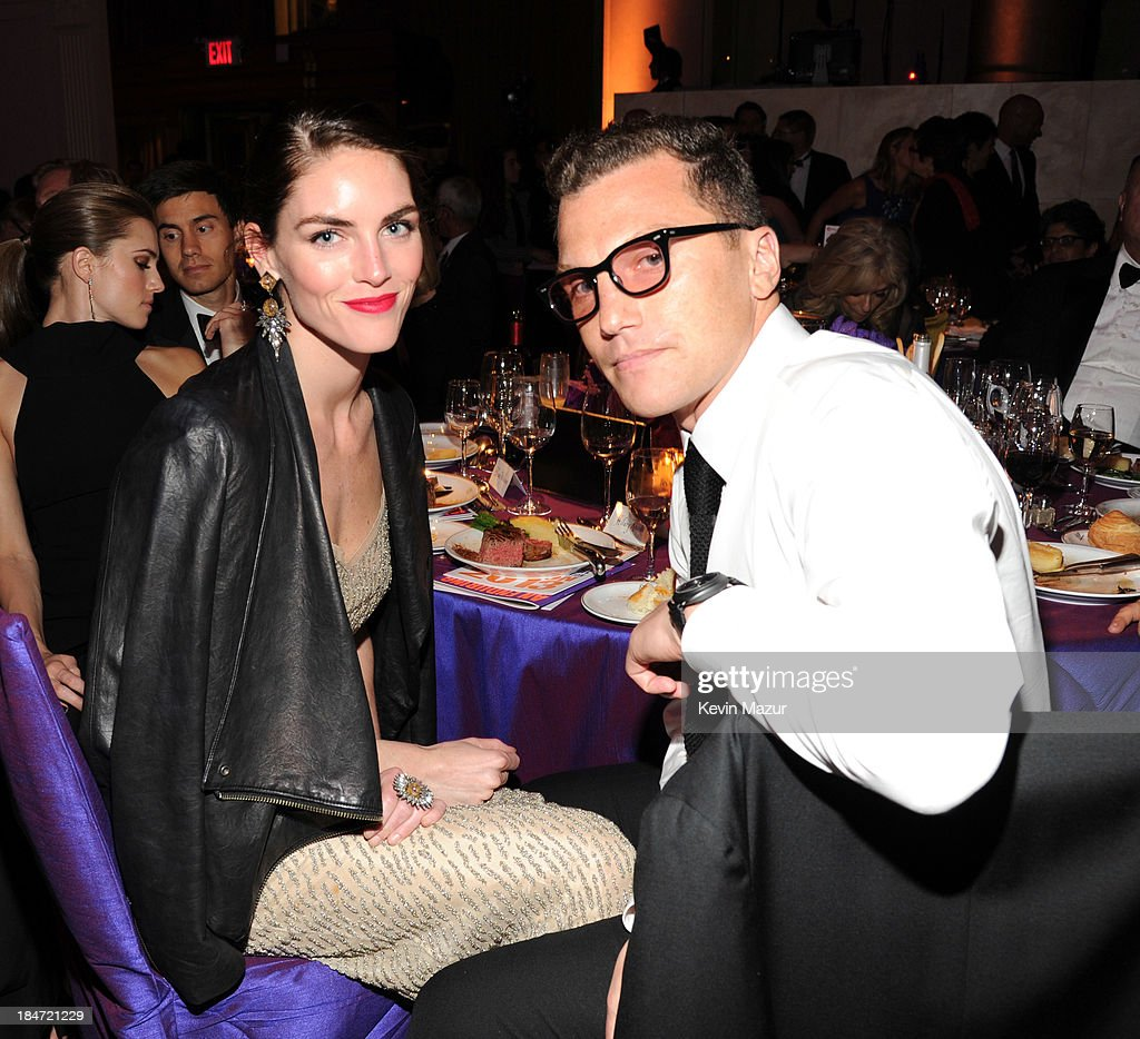 Hilary Rhoda and Sean Avery attend the Elton John AIDS Foundation's 12th Annual An Enduring Vision Benefit at Cipriani Wall Street on October 15, 2013 in New York City.