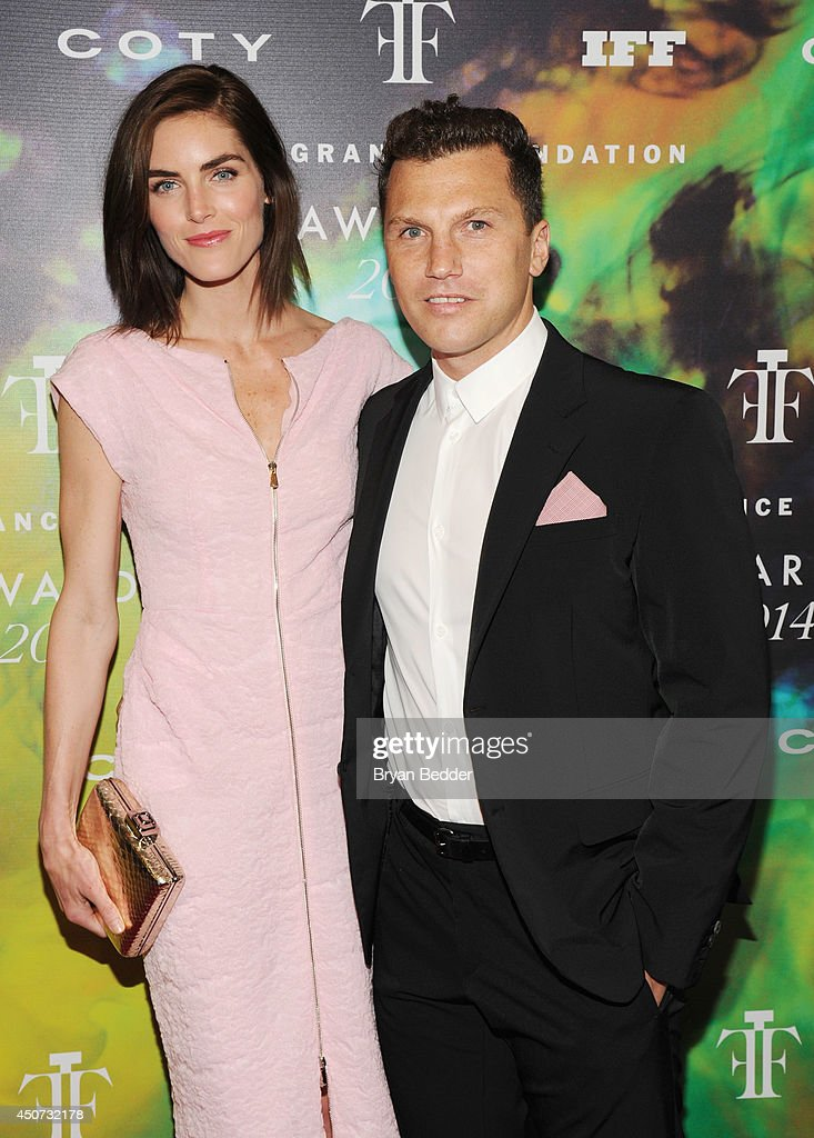 Hilary Rhoda and Sean Avery attends the 2014 Fragrance Foundation Awards on June 16, 2014 in New York City.
