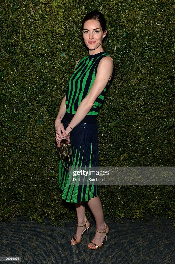 Hilary Rhoda attends a dinner in honor of Halle Berry as she joins Michael Kors and the United Nations World Food Programme to help fight world hunger. The event was held at The Pool Room at the Four Seasons on April 6, 2013 in New York City.